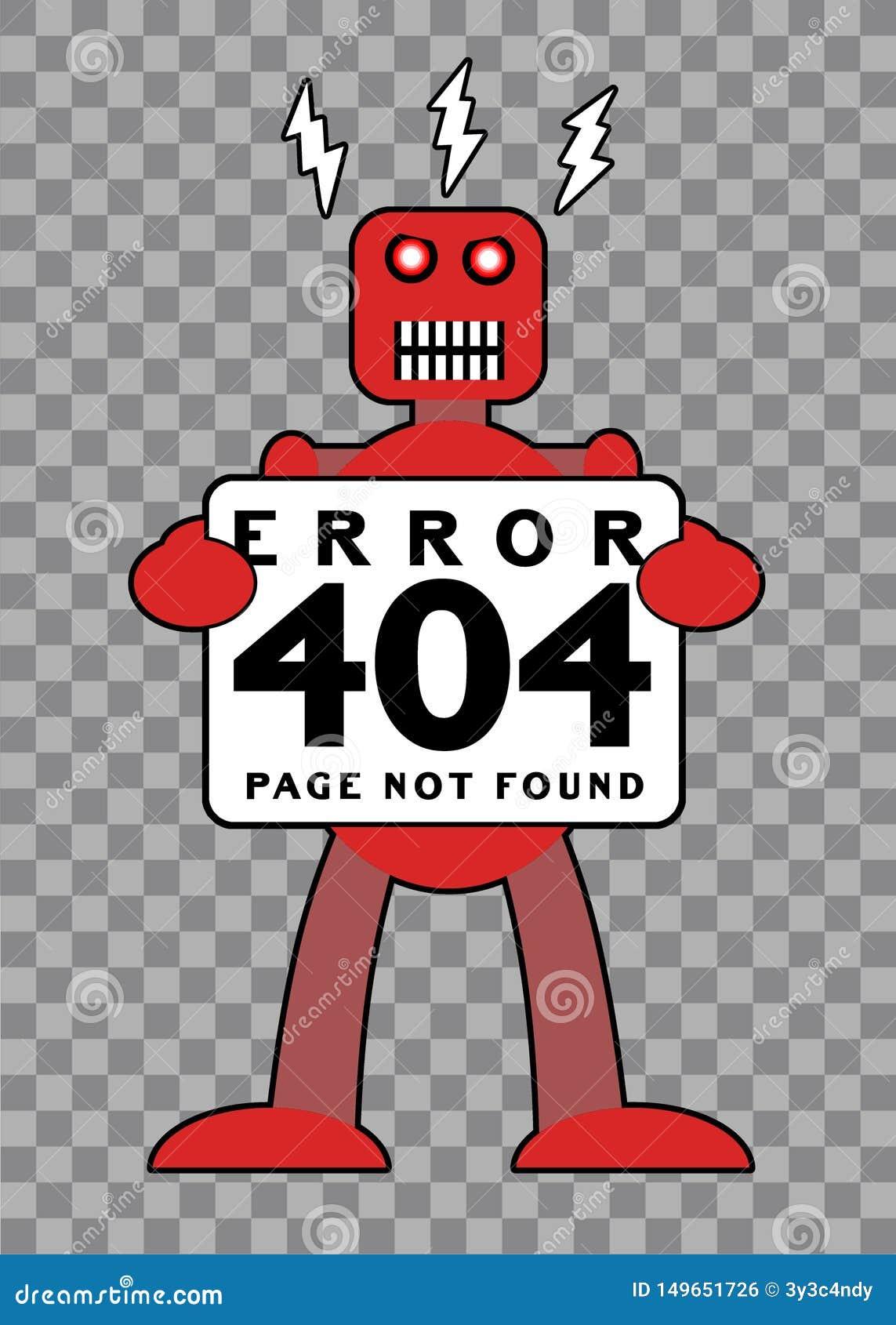 Ошибка 404: Сломленный ретро робот