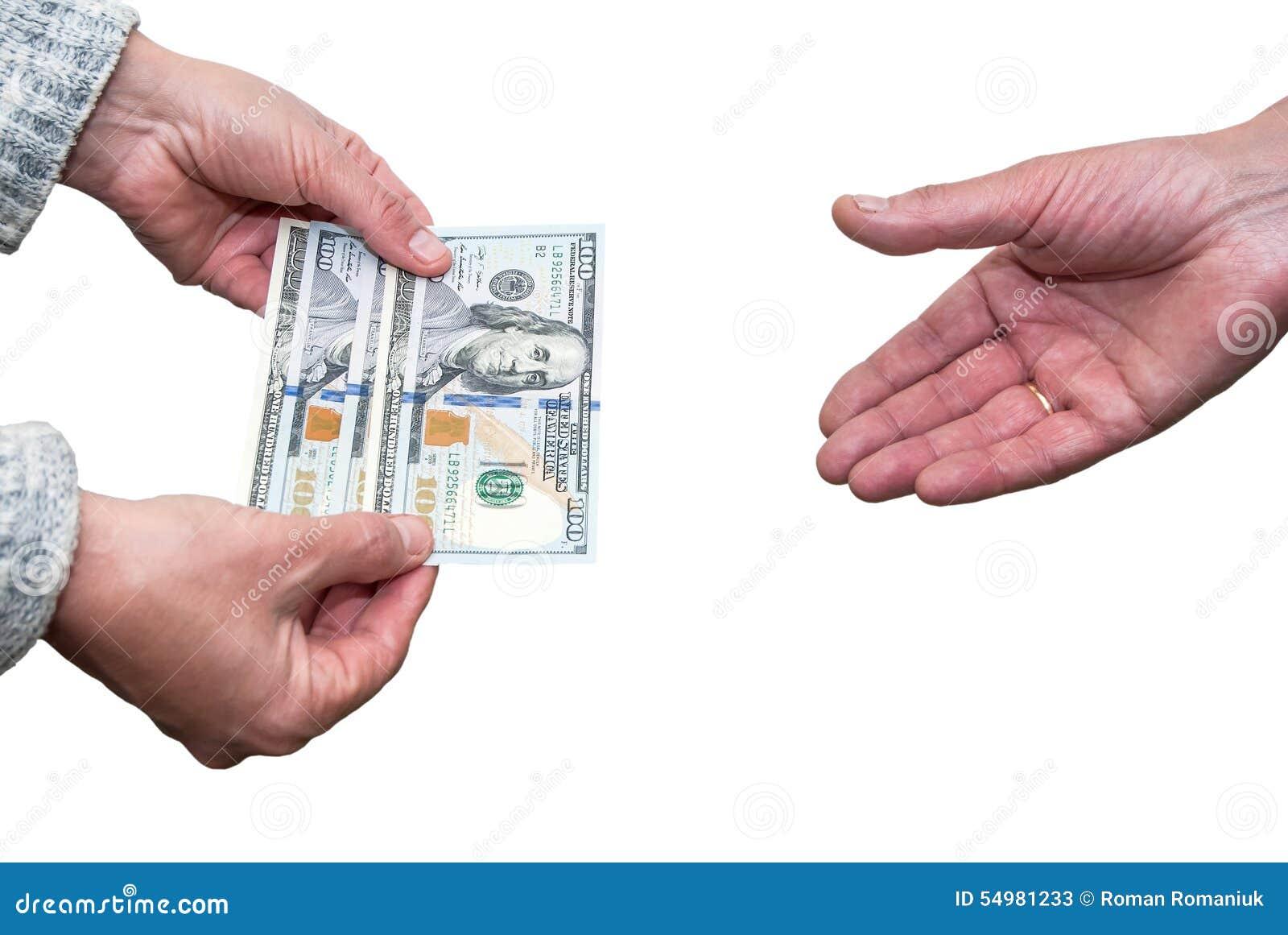 доллары руки