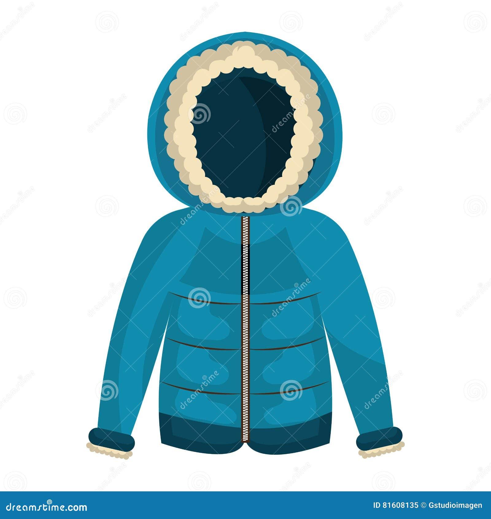 Одежды куртки зимы изолировали значок