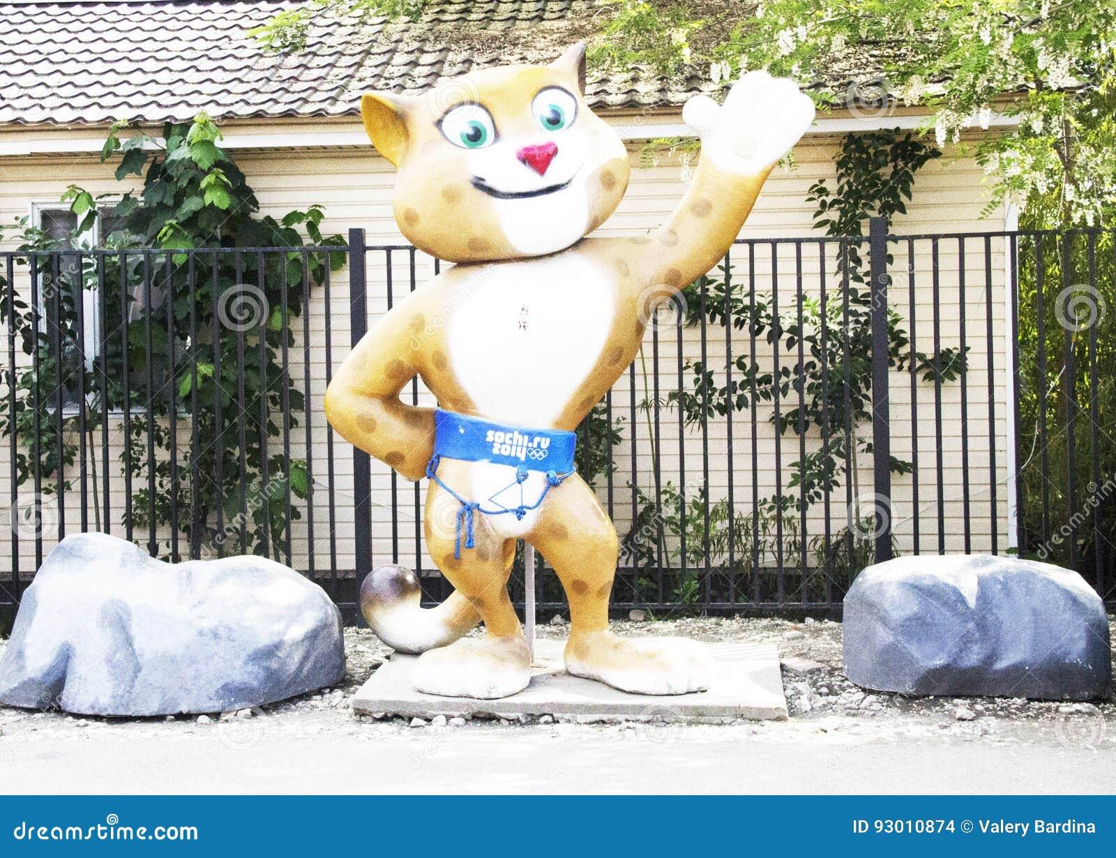 Олимпийский кот редакционное стоковое изображение. изображение насчитывающей - 93010874