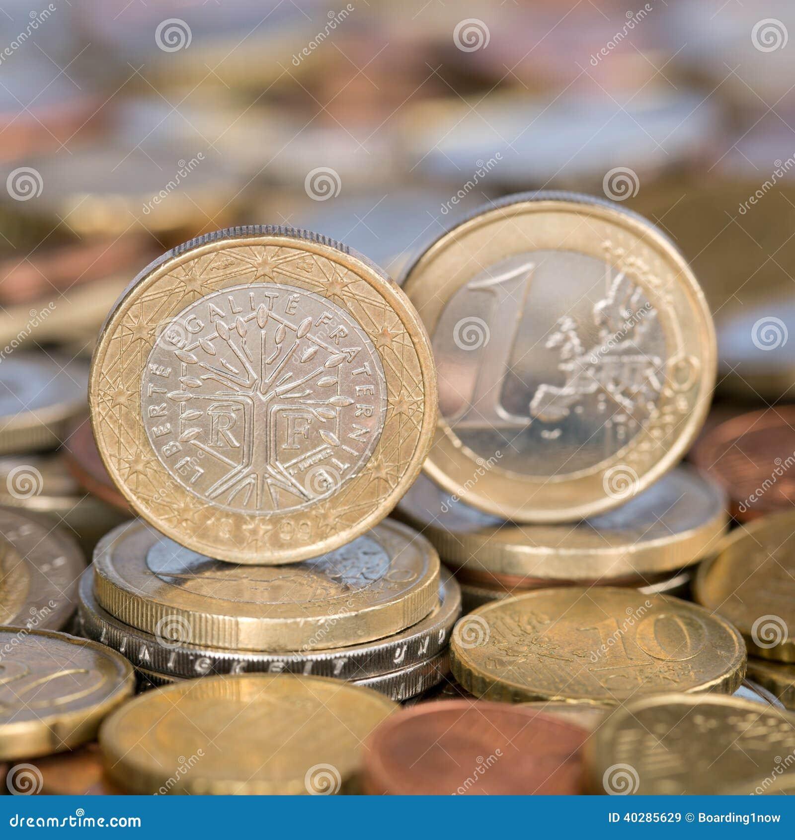 Одна монетка Франция евро