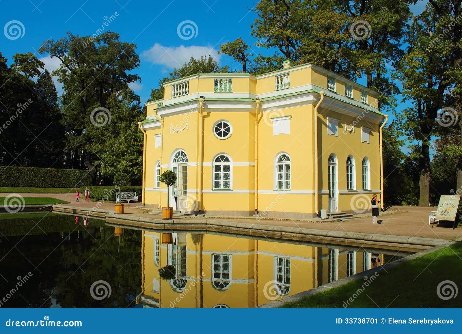 Павильон лета столетия 18. Россия, Санкт-Петербург, Tsarskoye Selo.