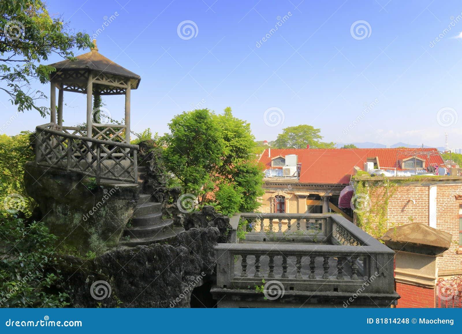 Павильон частного сада в острове gulangyu