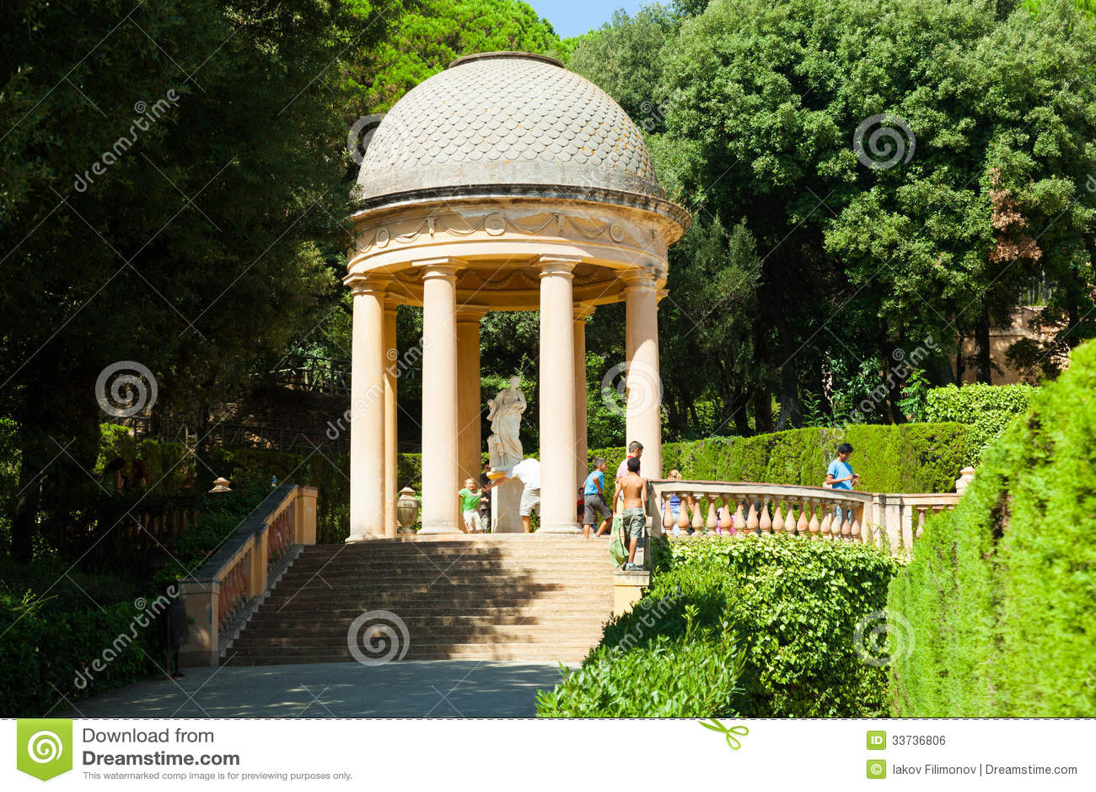Павильон Danae на Parc del Laberint de Horta в Барселоне