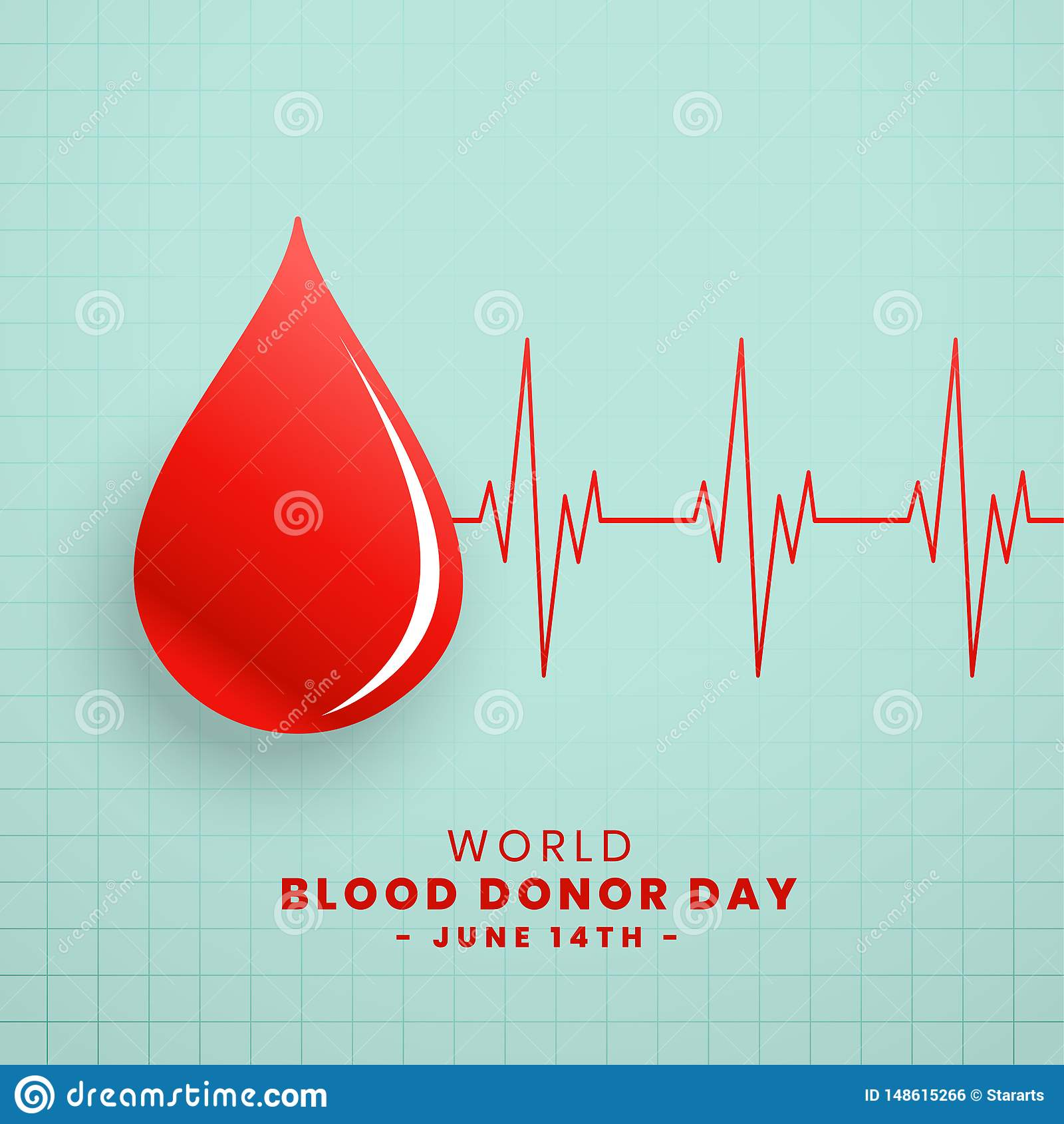 Падение красной предпосылки концепции дня донора