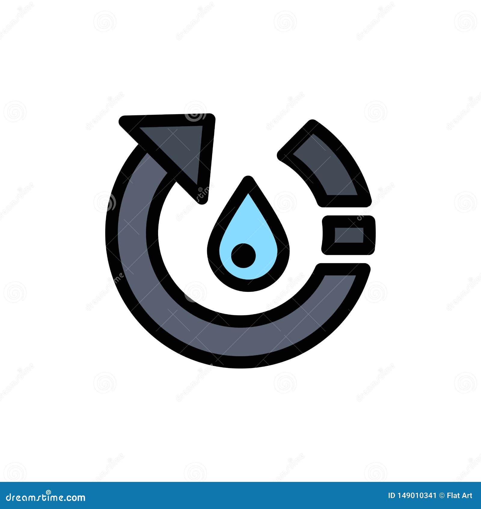 Падение, экологичность, окружающая среда, природа, повторно использует плоский значок цвета Шаблон знамени значка вектора