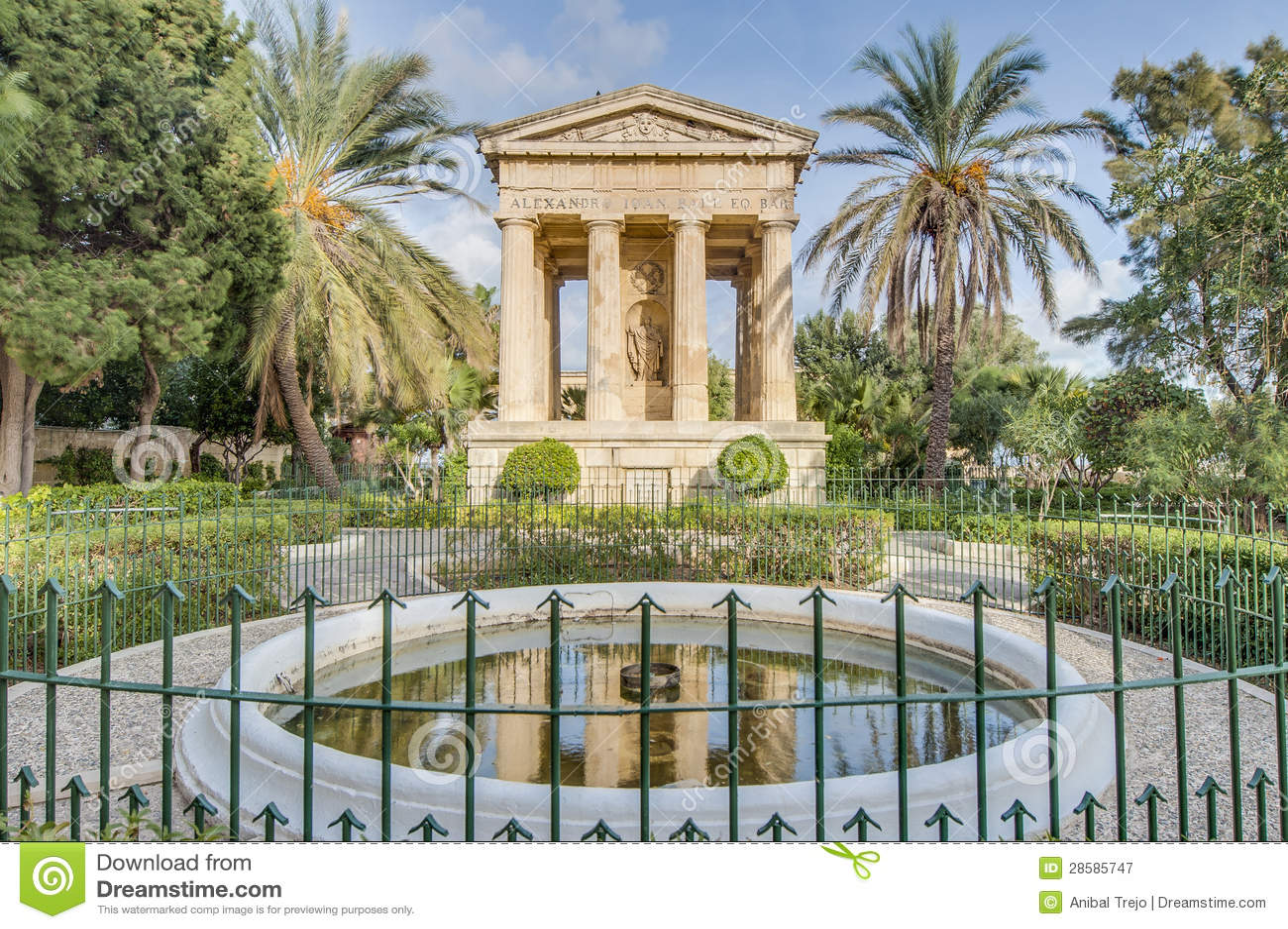 Памятник в Валлетте, Мальта шарика Александра Джна