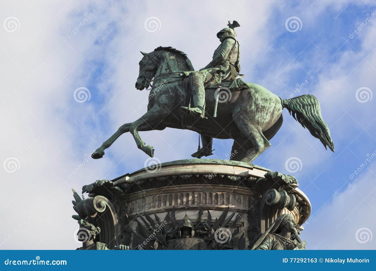 Памятник к Николасу i в Санкт-Петербурге