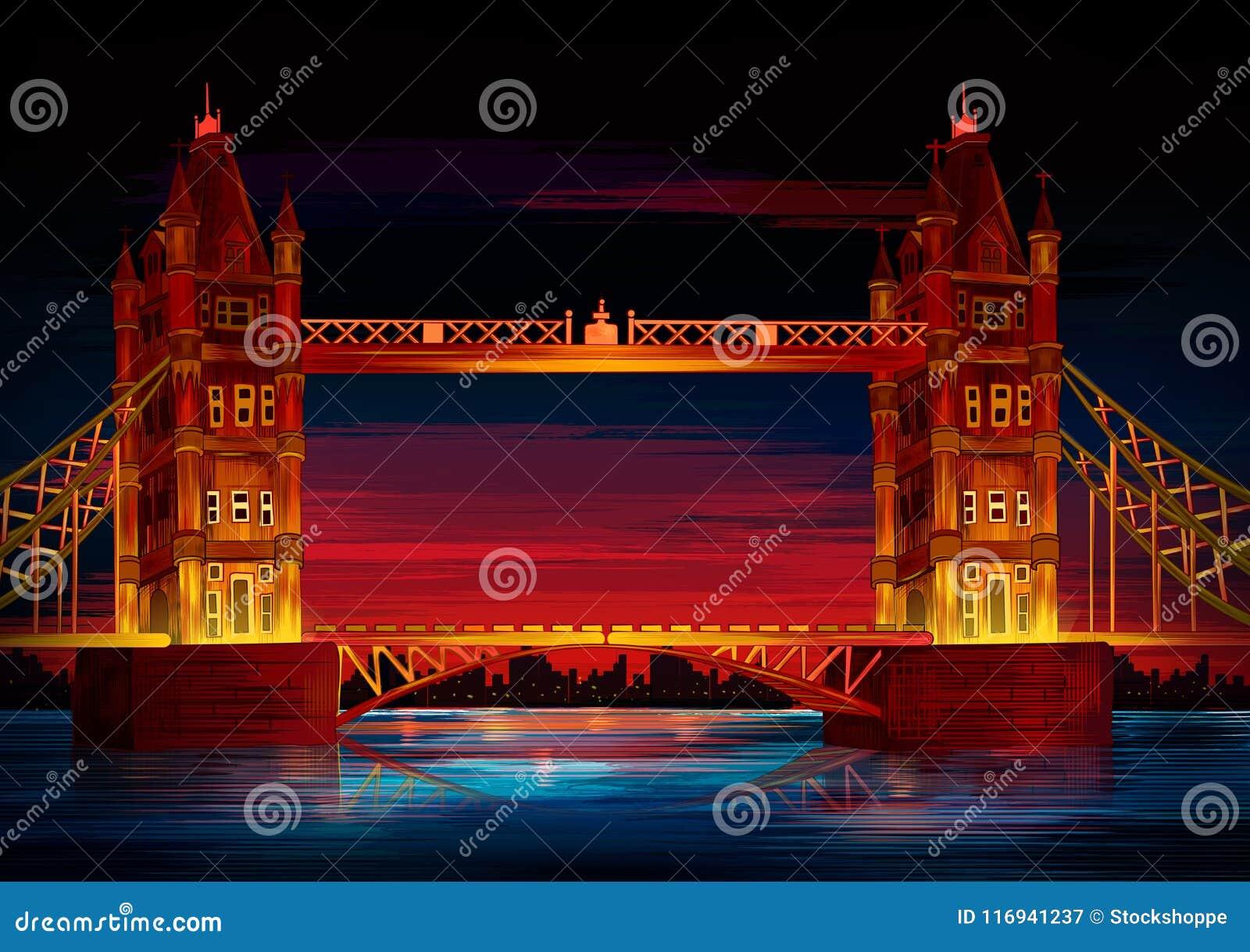 Памятник мира моста башни известный исторический Лондона