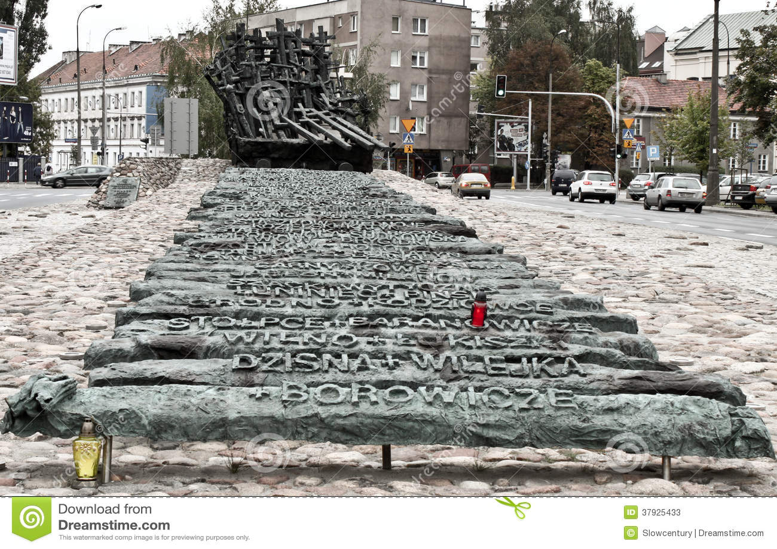 Памятник для падать и убитый в востоке