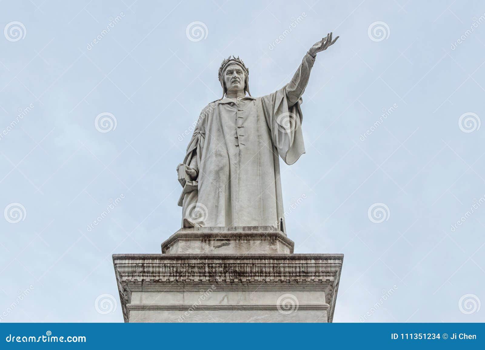 Памятник Dante в Неаполь