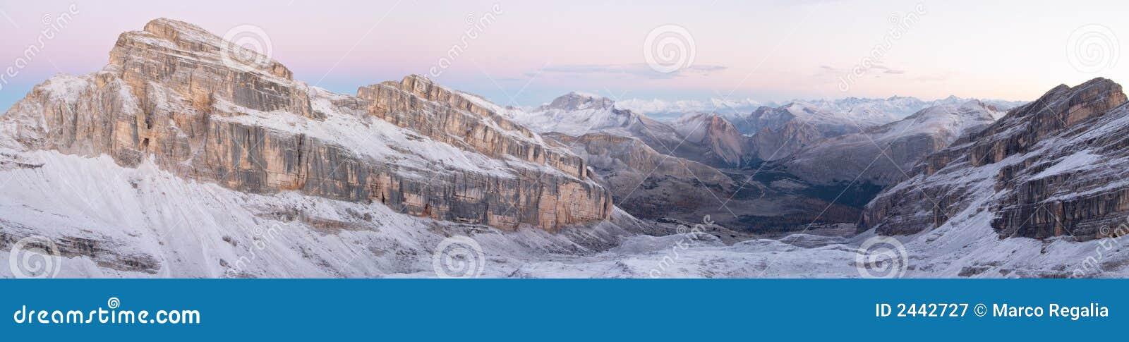 панорама доломитов