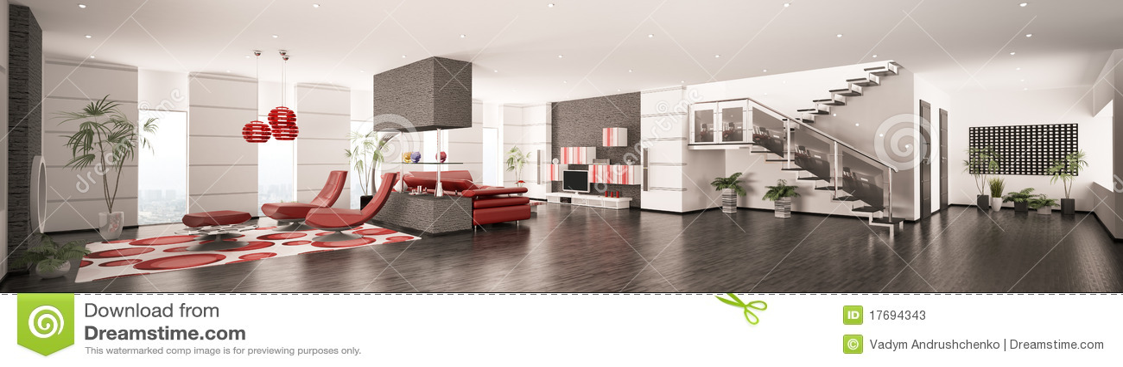 панорама квартиры 3d нутряная самомоднейшая представляет