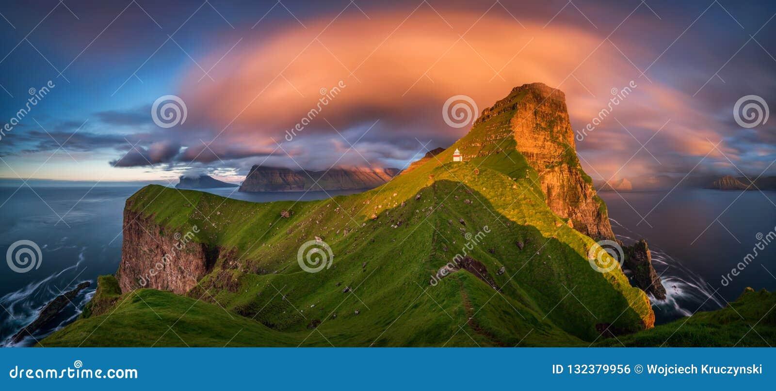Панорама маяка Kallur
