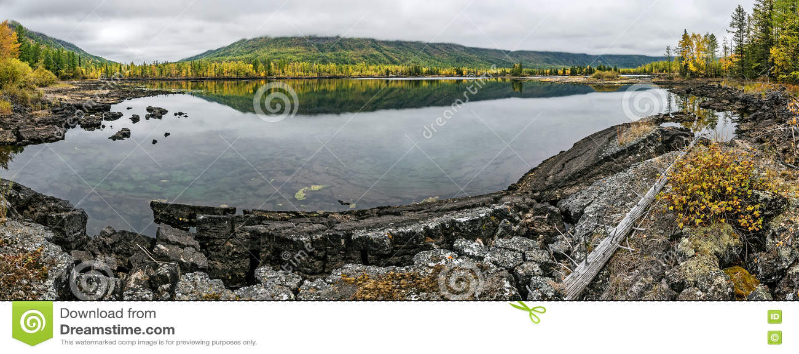 Панорама озера Olon-Nur