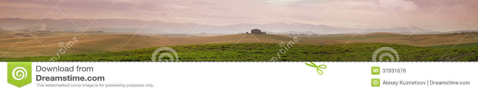 Панорама полей завальцовки, Италия