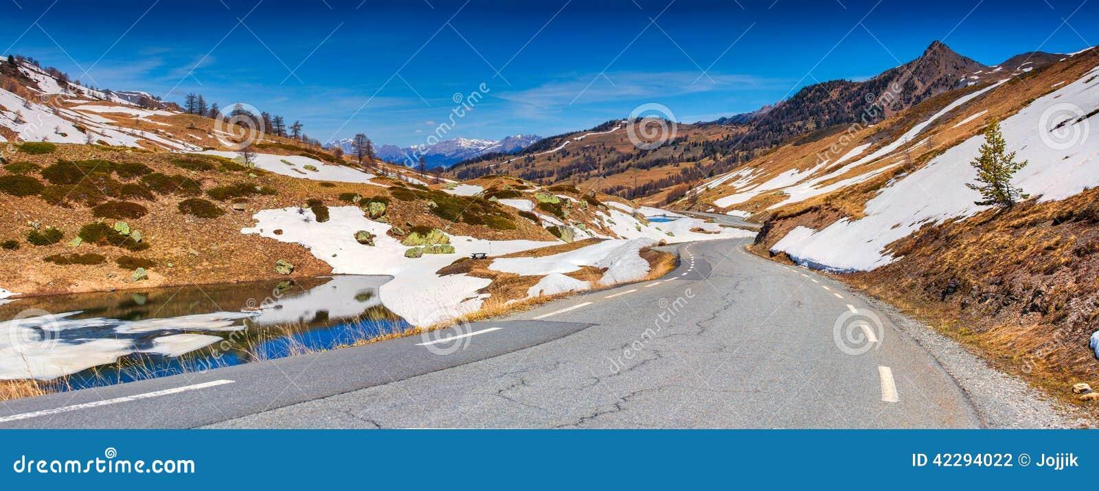 Панорама Col De Vars пропуска, Альпы,