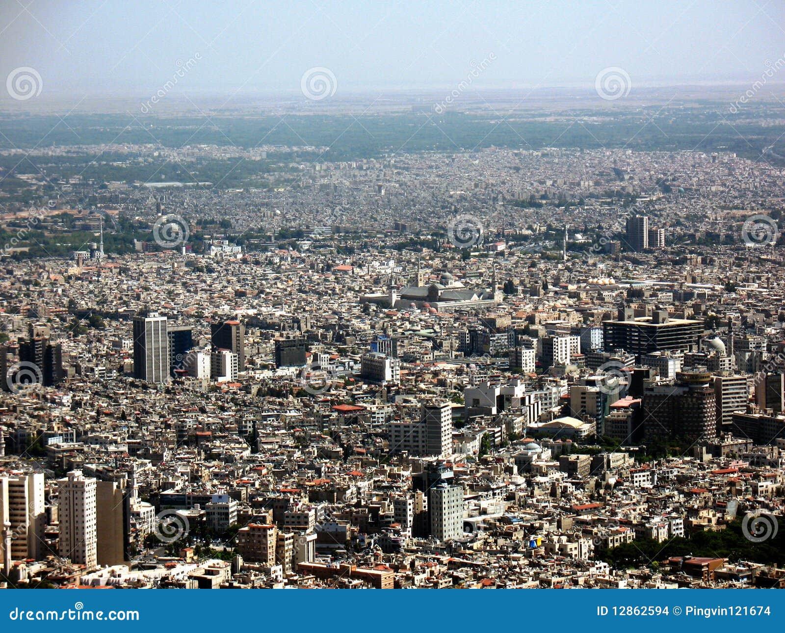 панорама damascus города