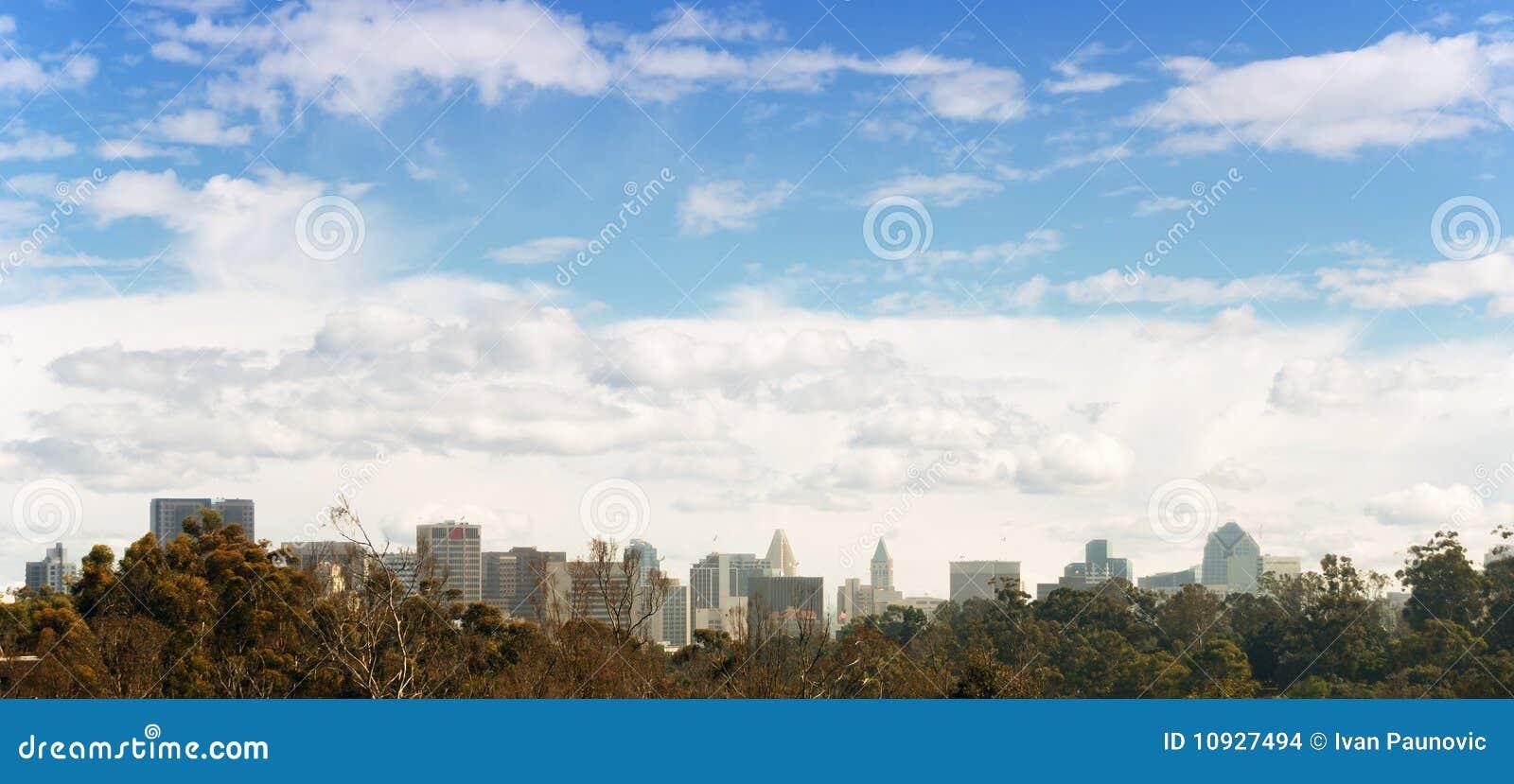 панорама san diego городская