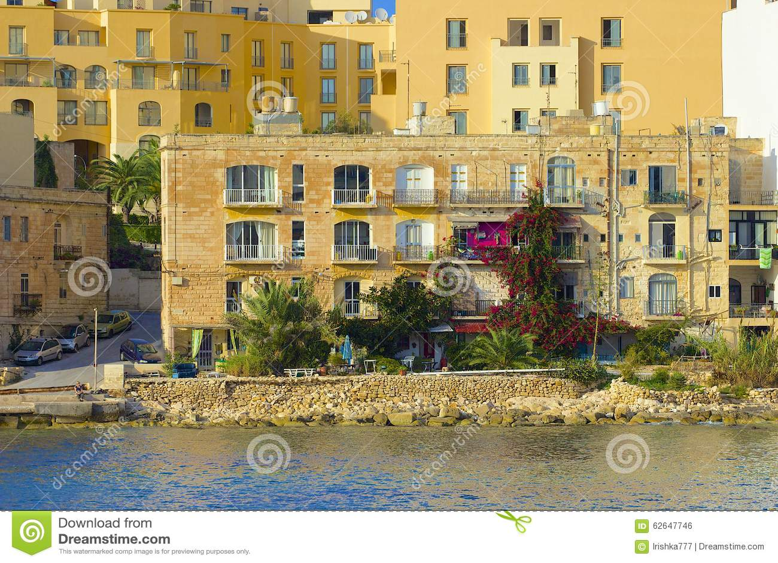 Панорама St Julians в Мальте