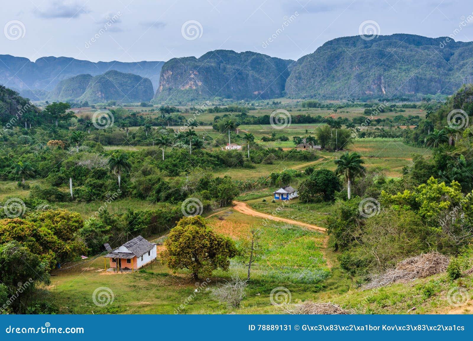 Панорамный взгляд в долине Vinales, Кубе