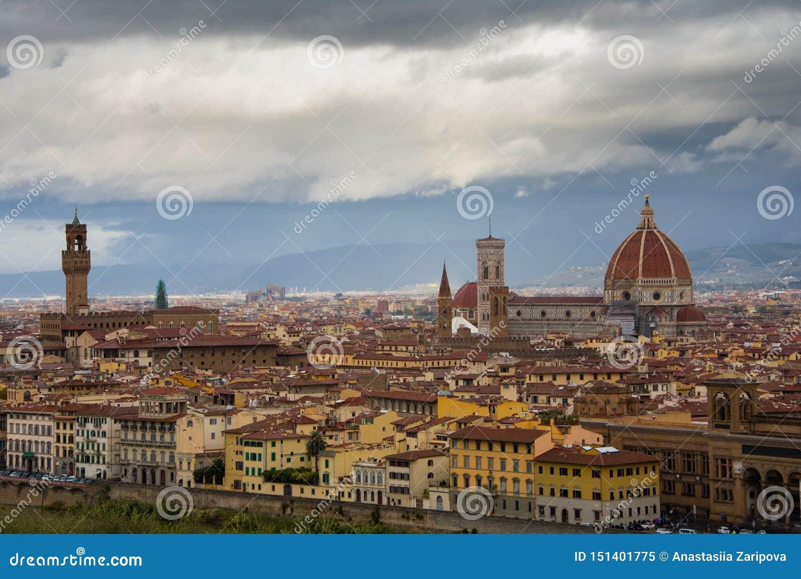 Панорамный вид на Флоренс от Piazzale Микеланджело
