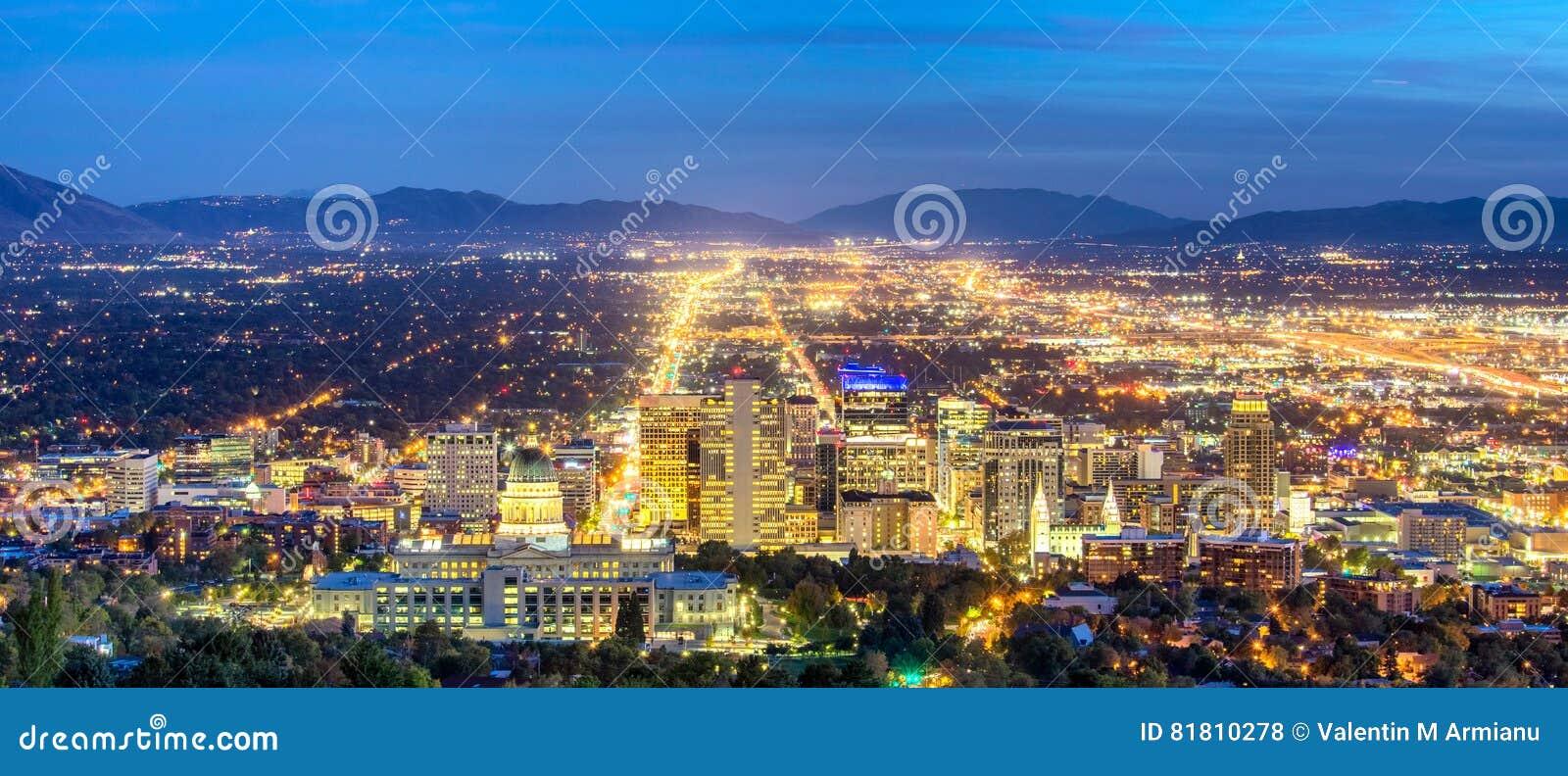 Панорамный городской Солт-Лейк-Сити