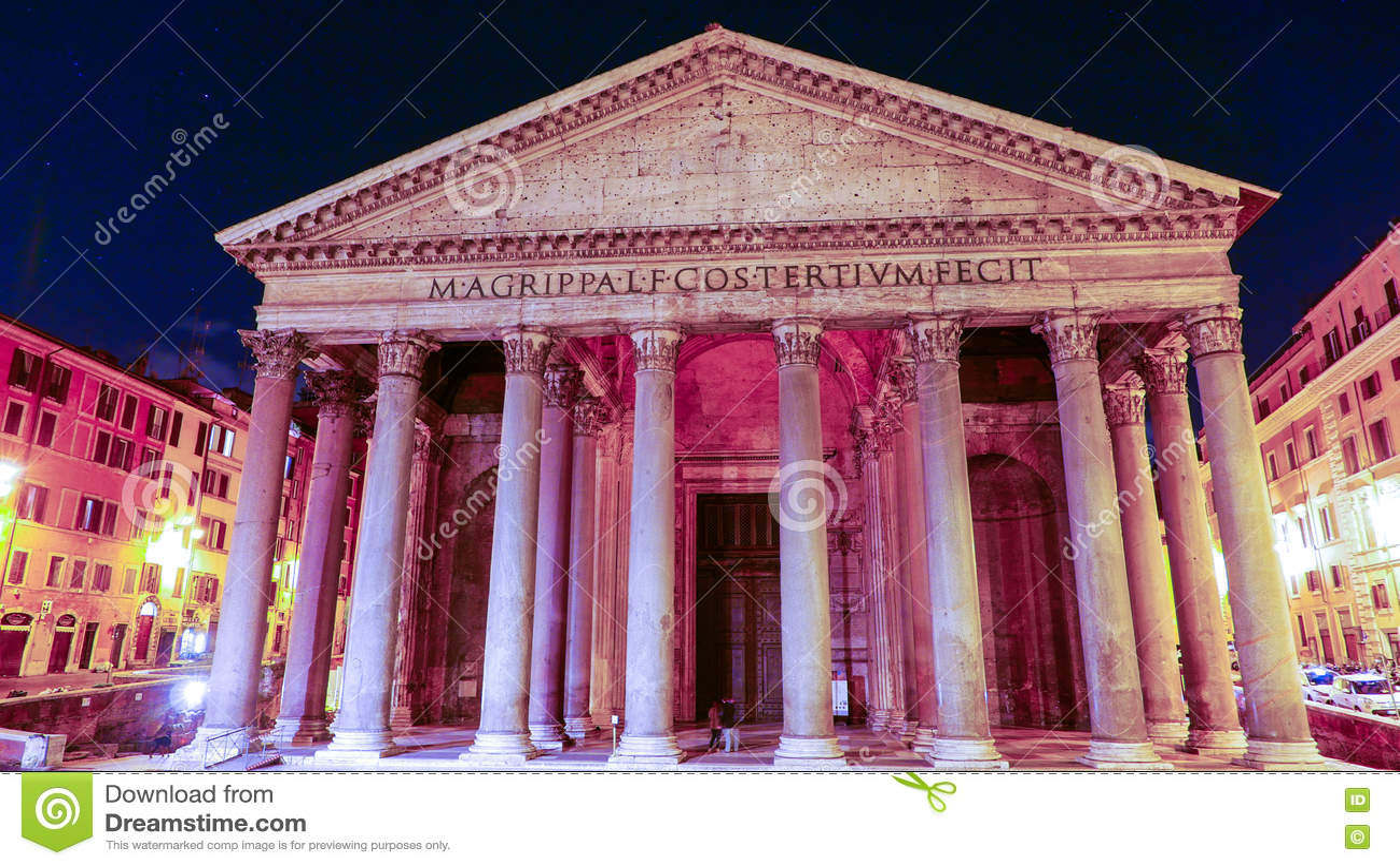 Пантеон в Риме - известном ориентир ориентире в историческом районе