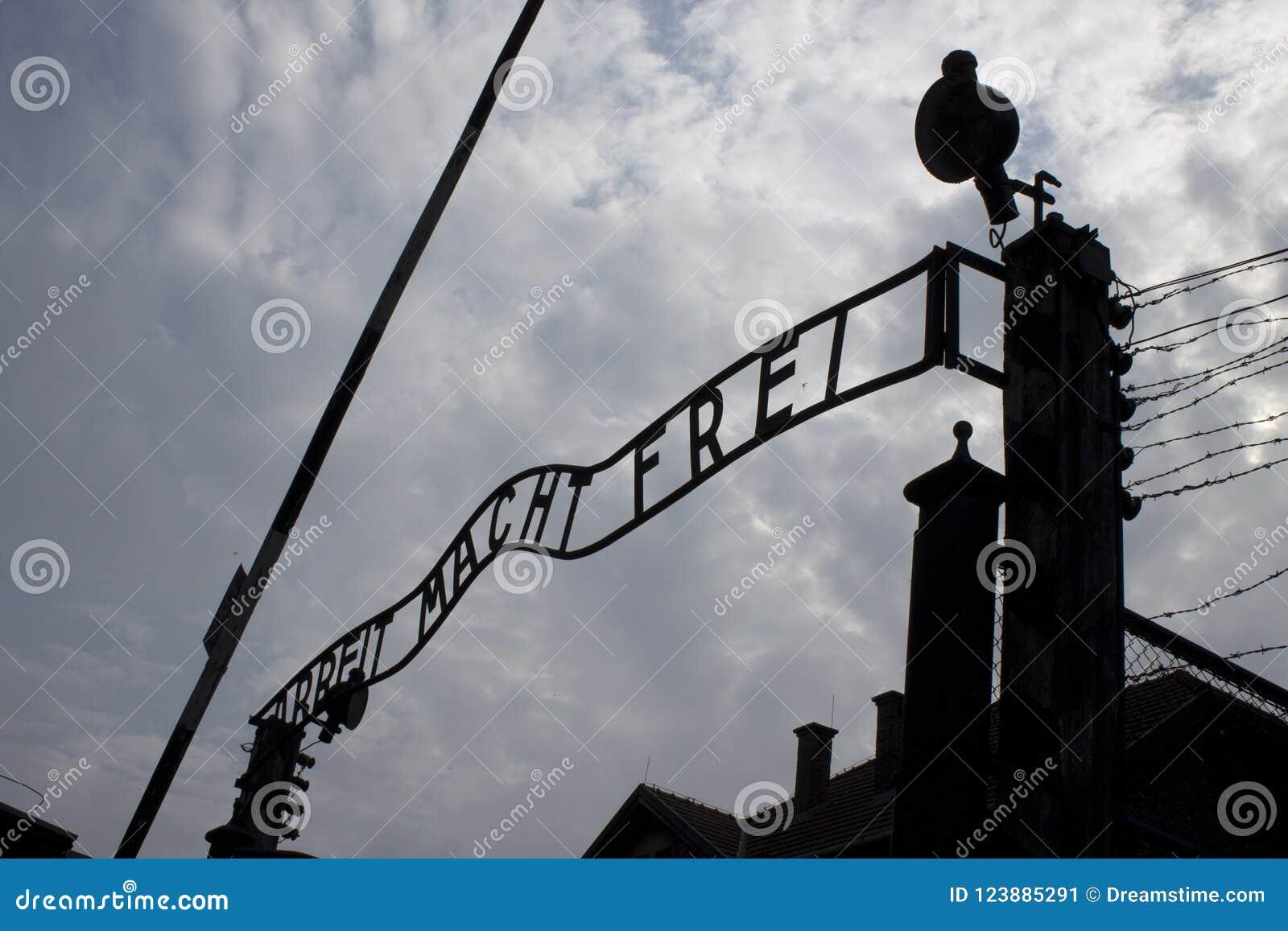 Парадные ворота Освенцима