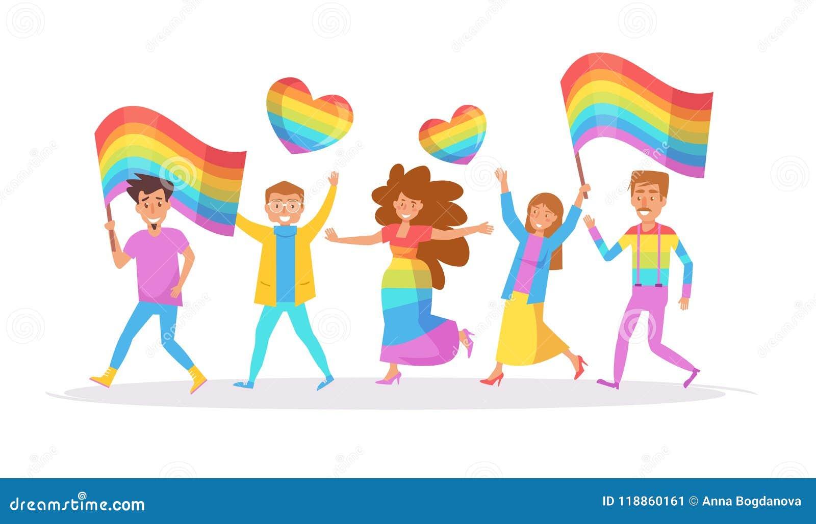 Парад LGBTQ вектор