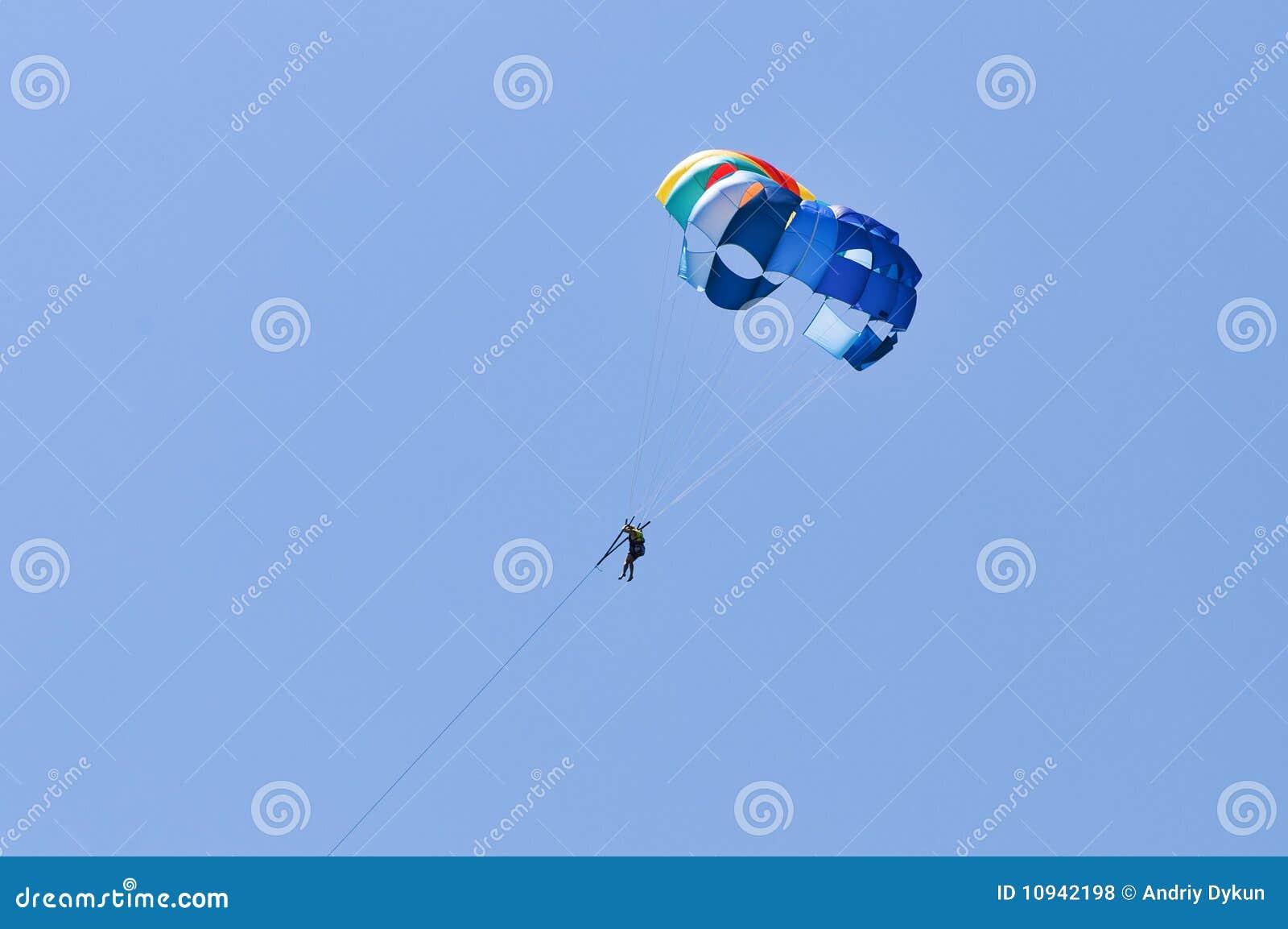 парашют человека