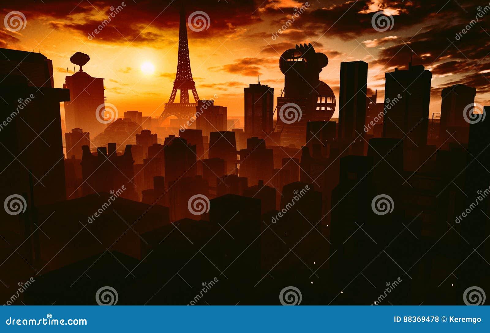 Париж в будущем