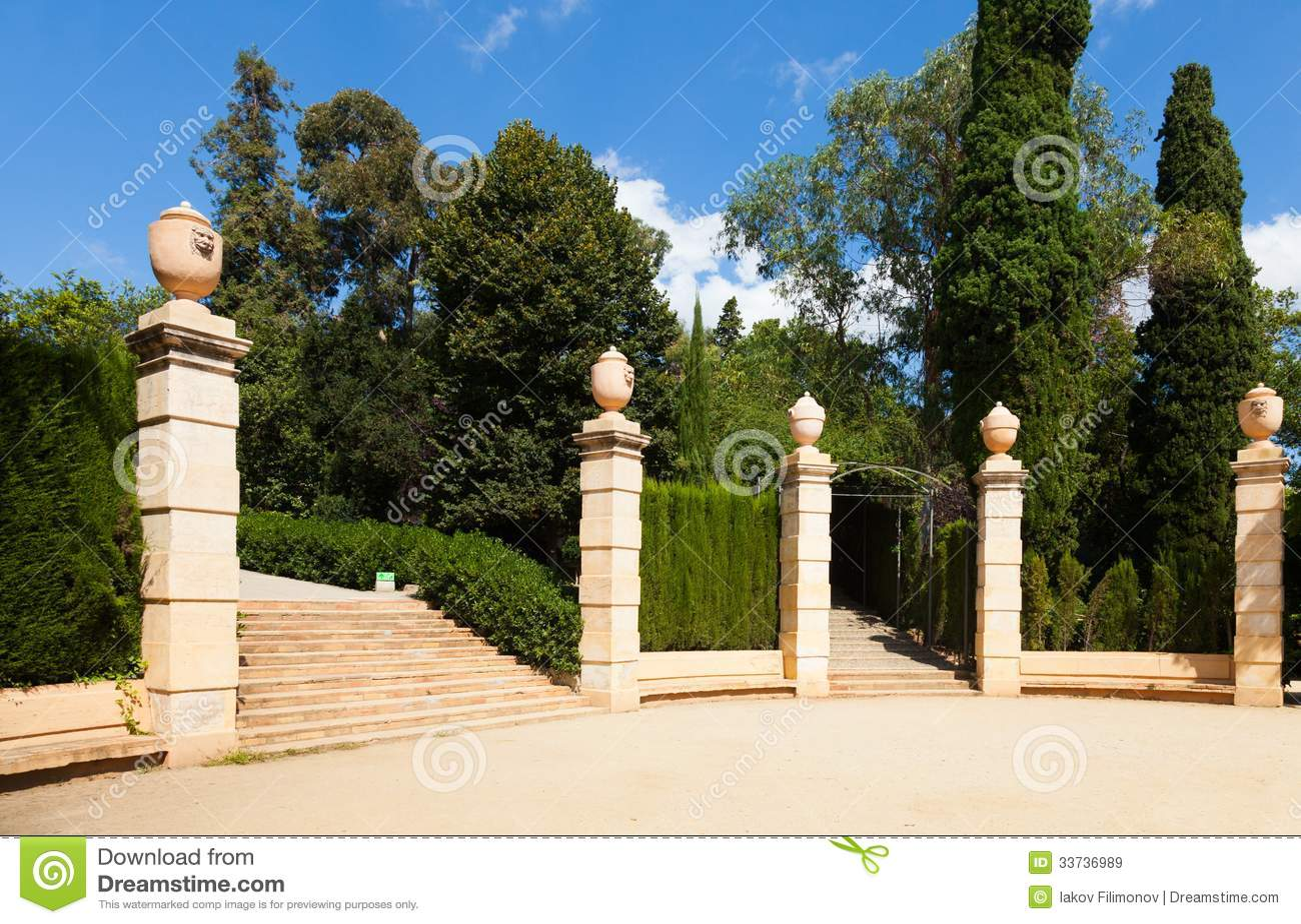 Парк лабиринта Horta в Барселоне