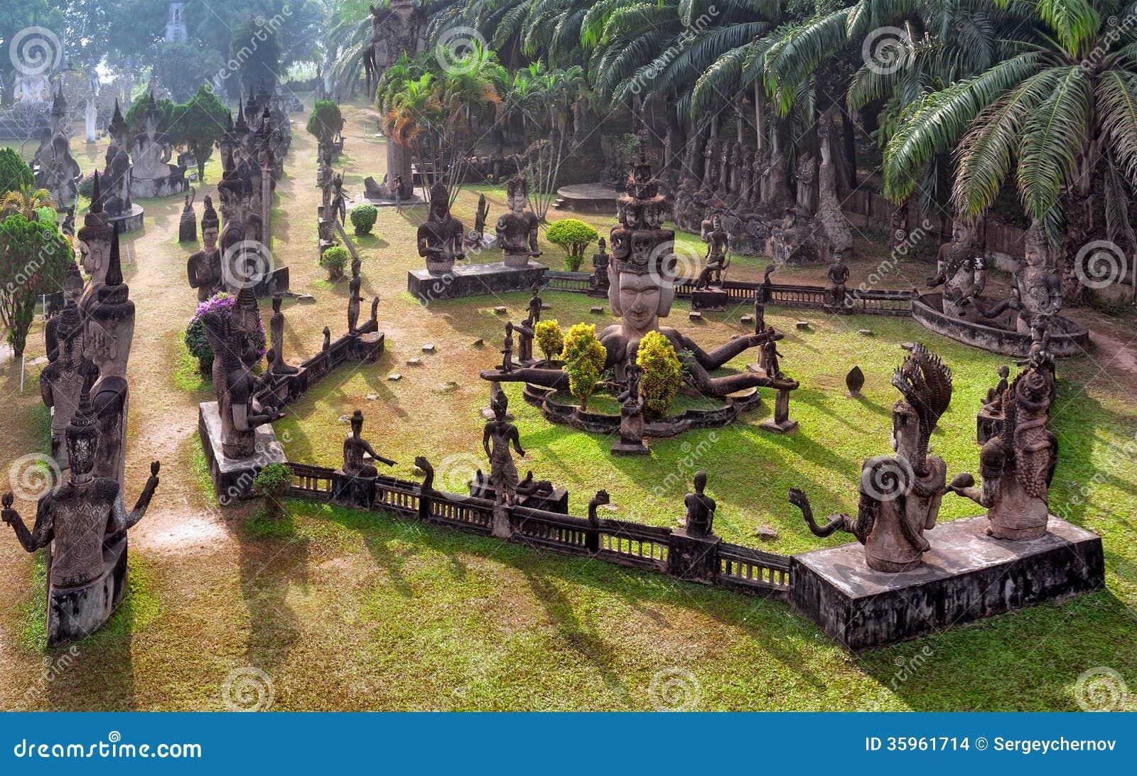 Парк Будды в Вьентьян, Лаосе Известный ориентир ориентир туриста перемещения