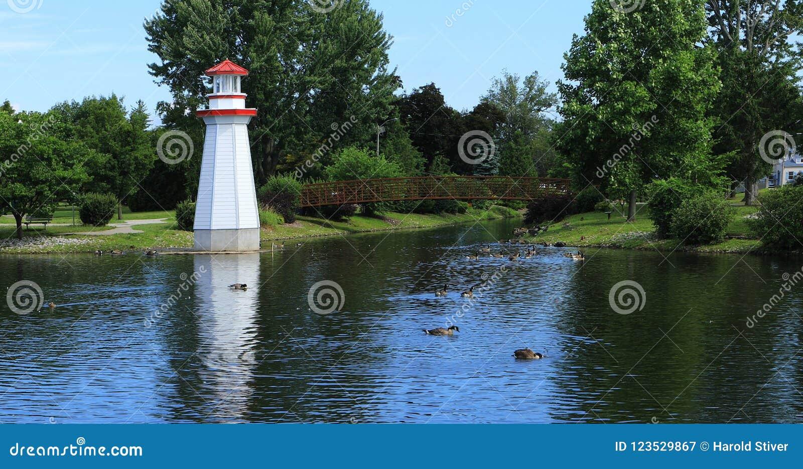 Парк Веллингтона в Simcoe, Канаде