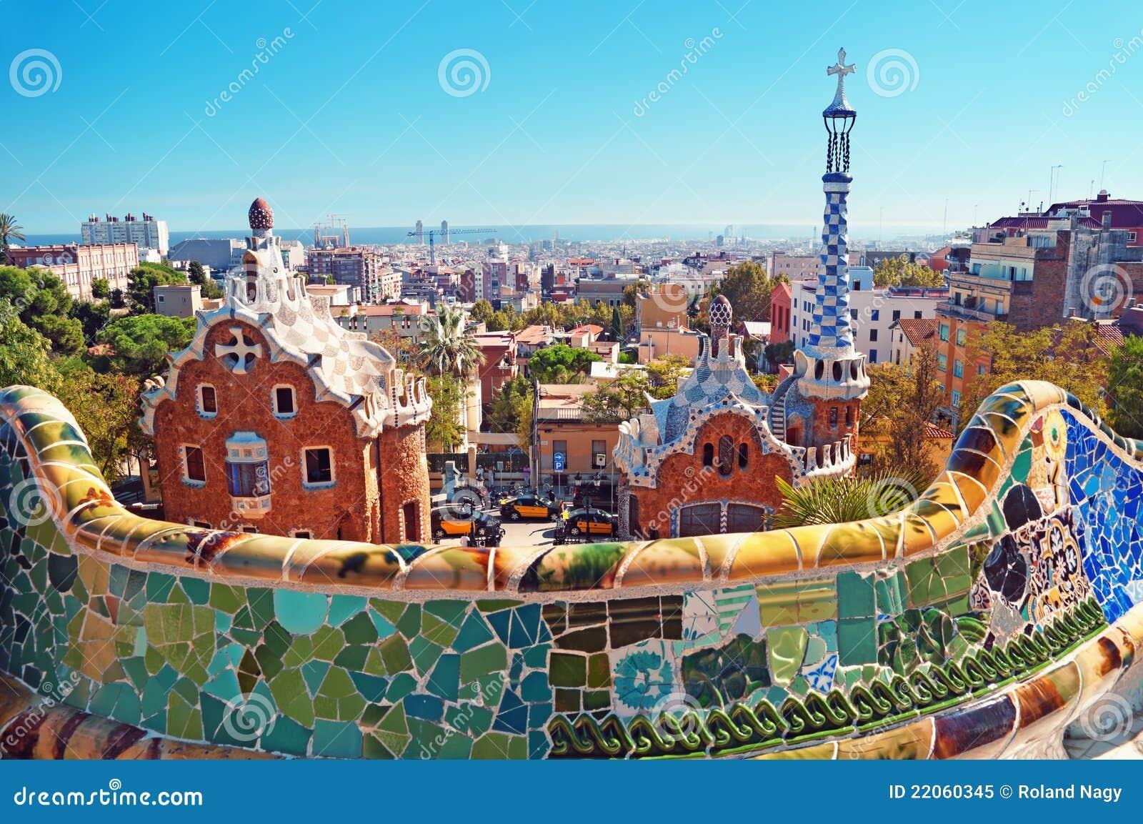 парк Испания guell barcelona
