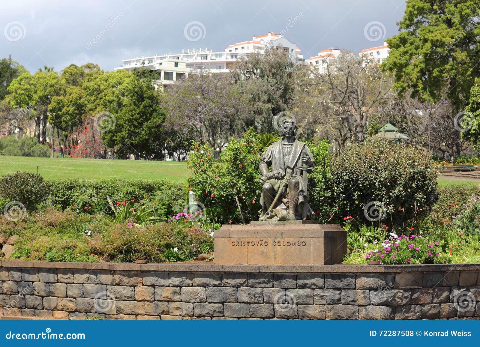 Download Парк и памятник Санта-Катарина для Christopher Columbus в потехе Стоковое Фото - изображение насчитывающей португальско, скульптор: 72287508