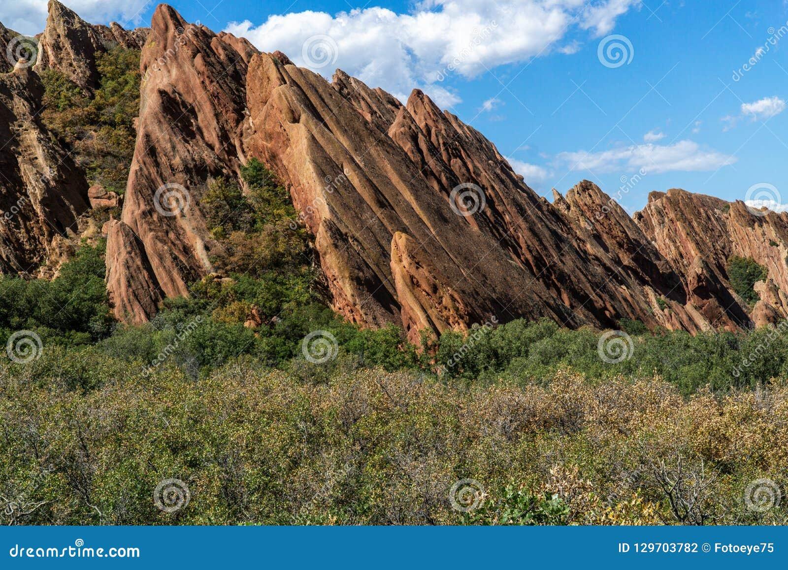 Парк штата Денвер Колорадо Roxborough