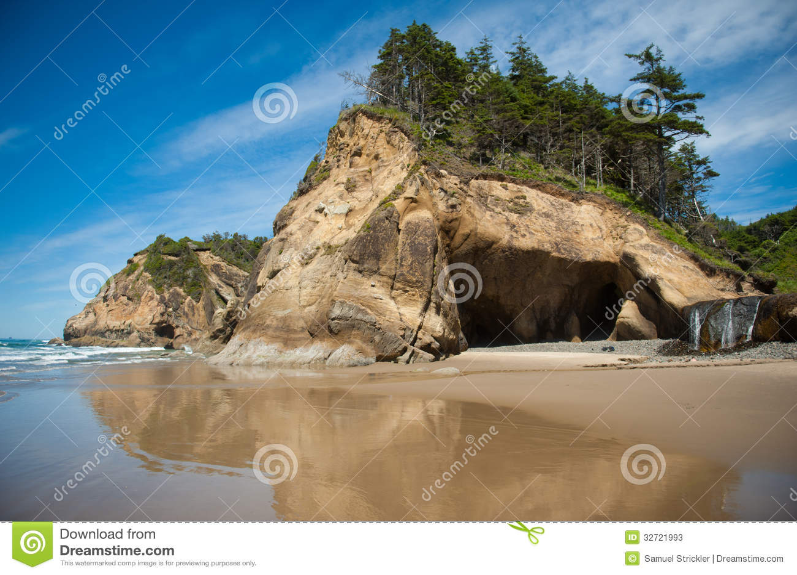 Парк штата пункта объятия в Орегоне