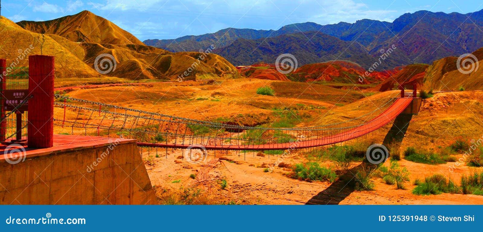 Парк Danxia геологохимический, провинция Zhangye, Ганьсу, Китай