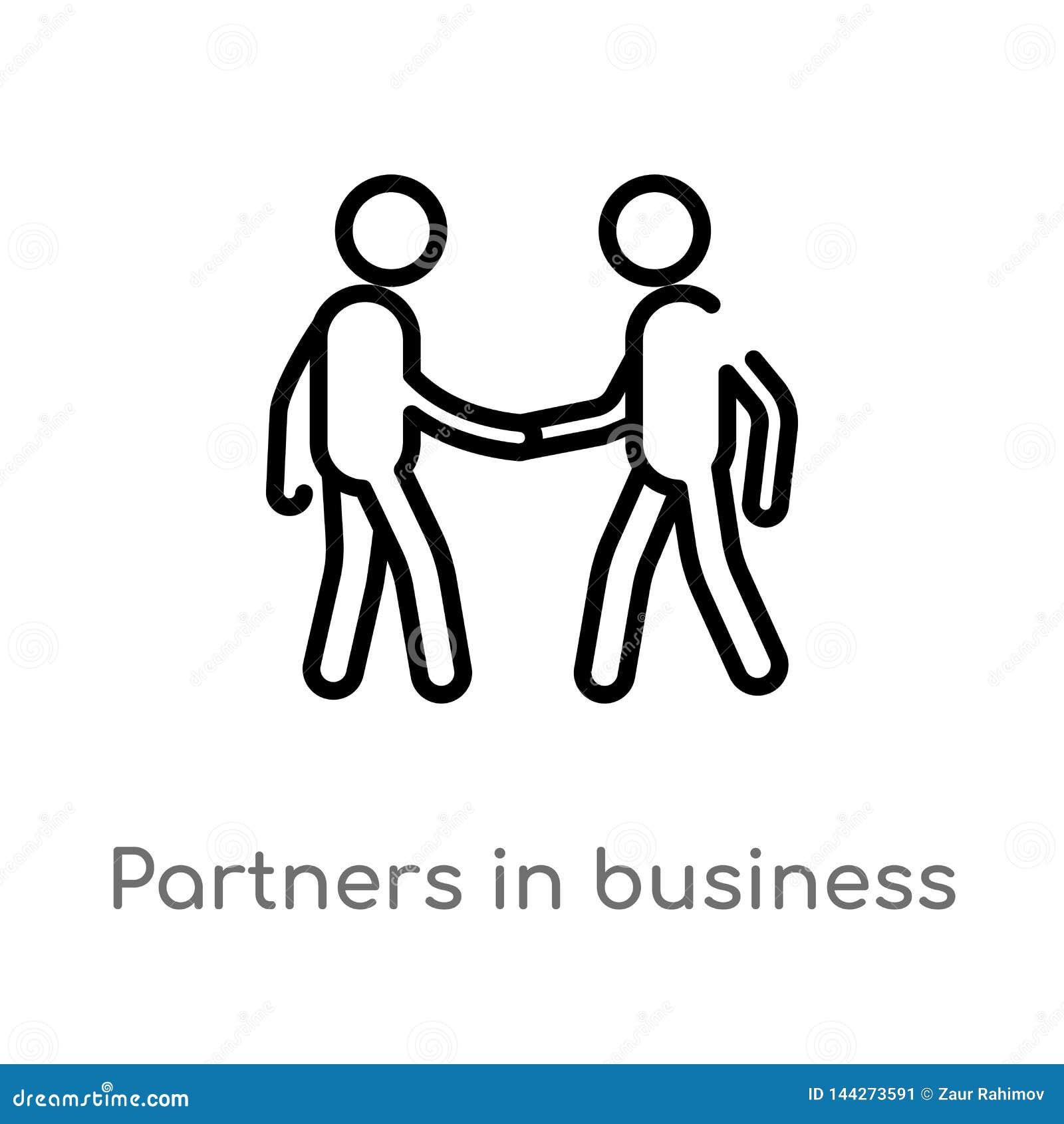 партнеры плана в значке вектора дела r r