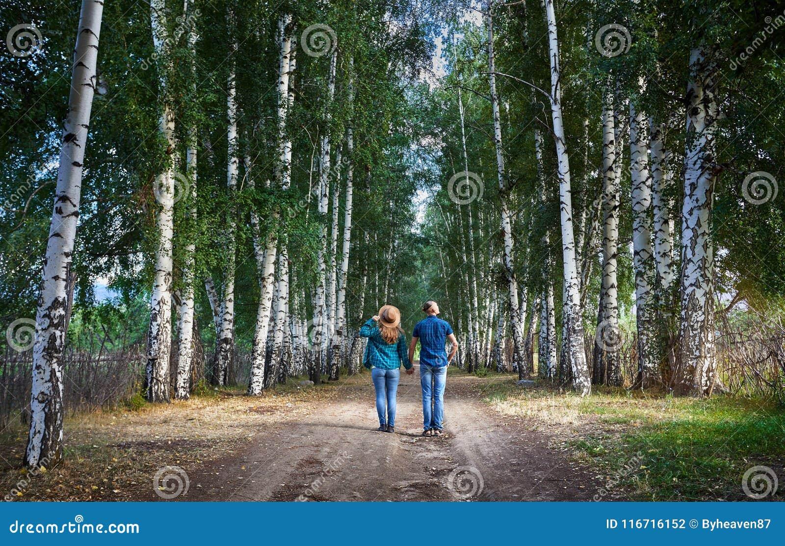 Пары битника в березовой древесине