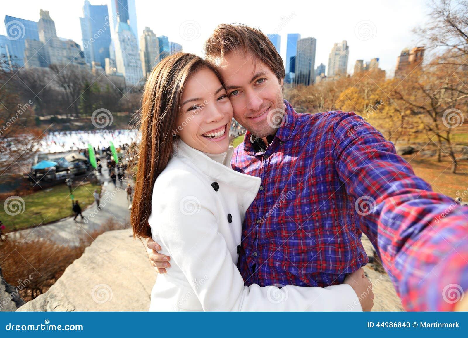 Пары в влюбленности, Central Park датировка, Нью-Йорк