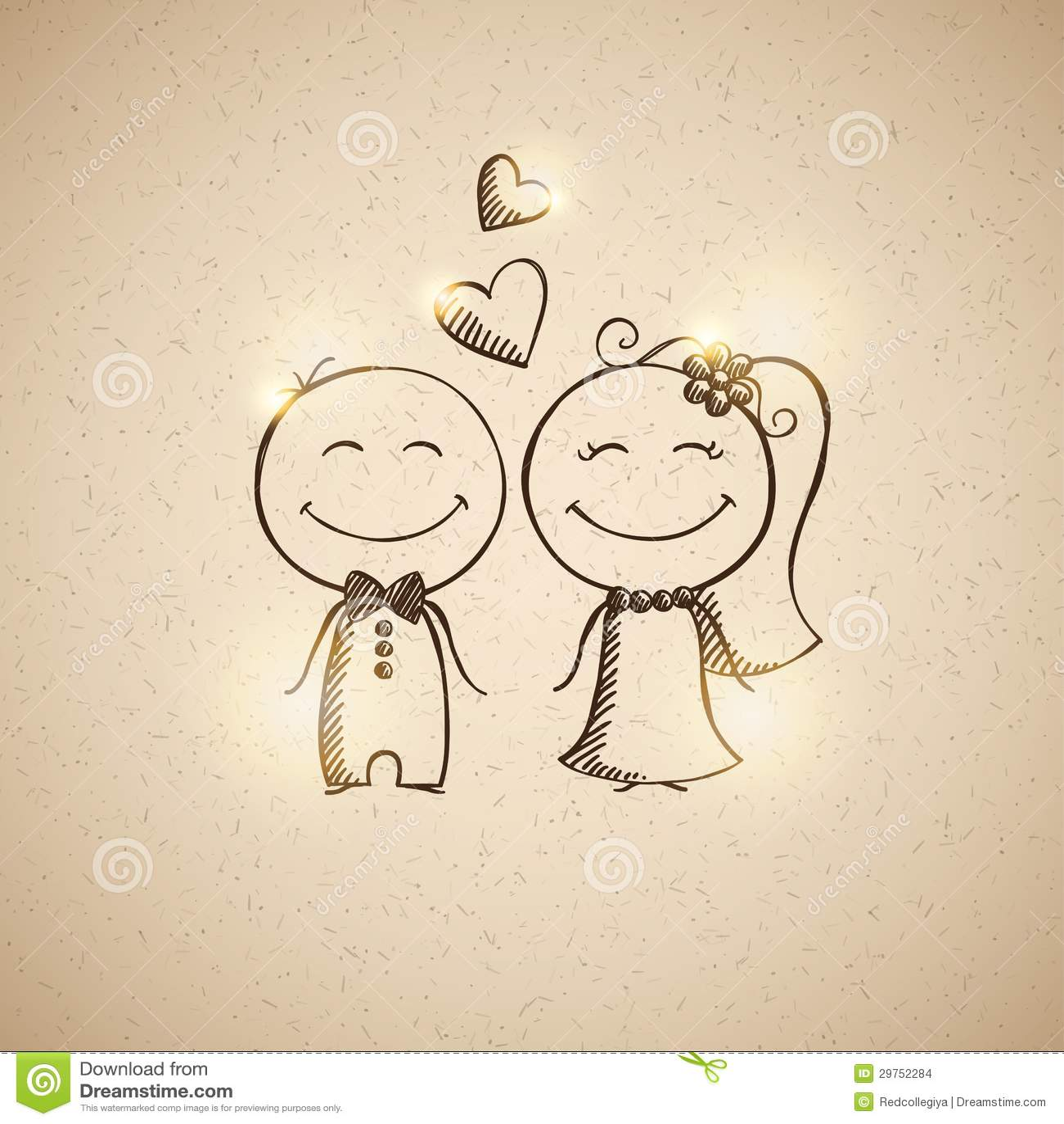 свадьба картинки нарисованные