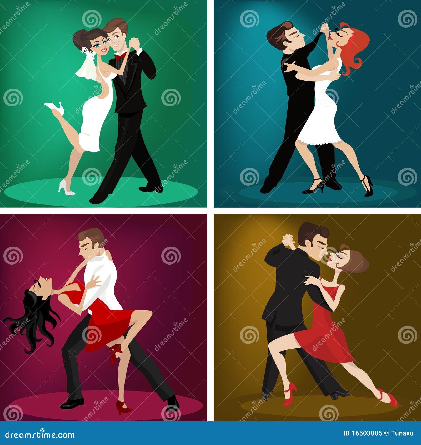 пары танцуют романтичное