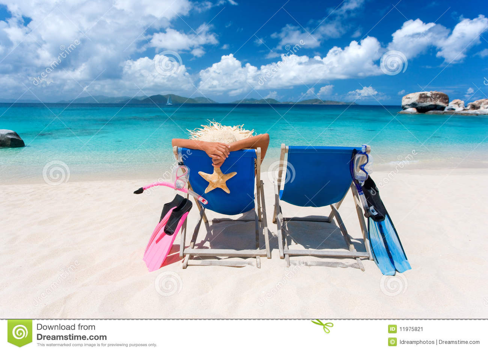 пары тропические 2 стулов пляжа