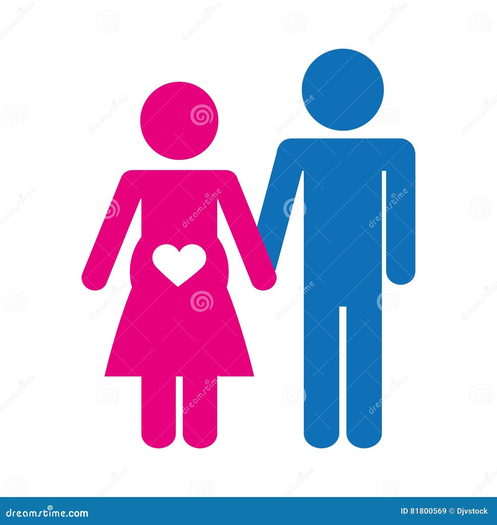 Пары укомплектовывают личным составом и изображение значка женщины