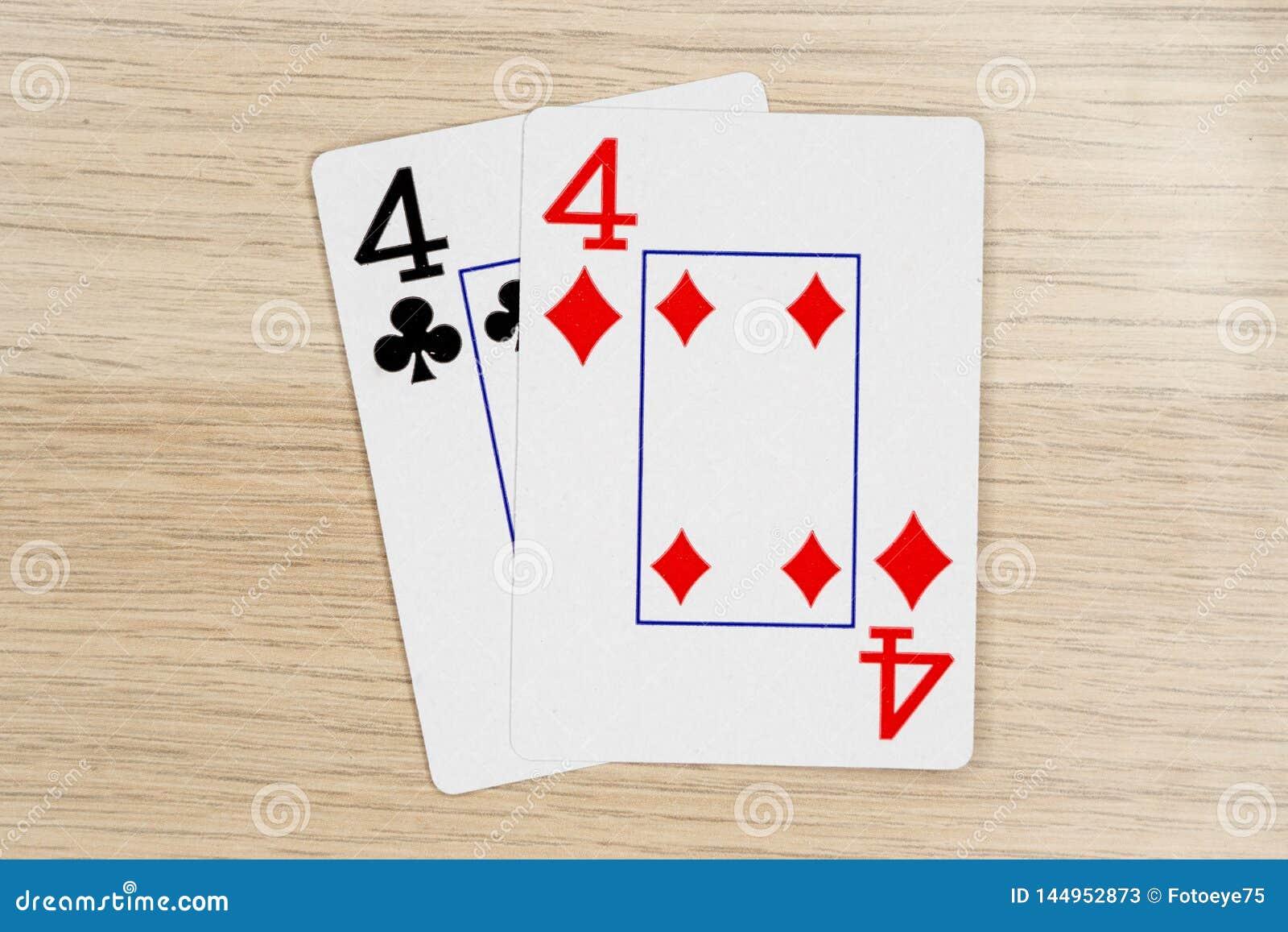 Пары fours 4 - казино играя карты покера