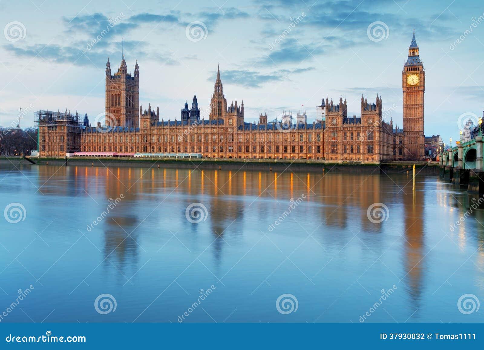 Парламент Великобритании - большой ben, Англия, Великобритания