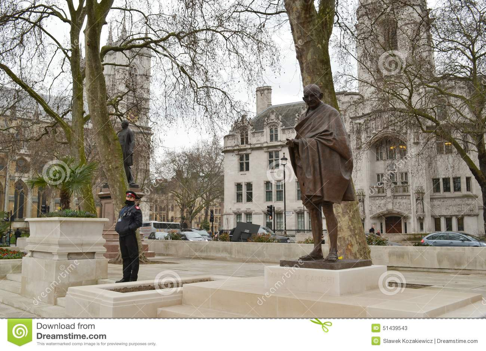 Парламент Махатма Ганди статуи придает квадратную форму Лондону
